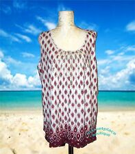 CHARTER CLUB Macys Chilled Melon Spice Island NEW TANK TOP CAMI Gather plus  2x
