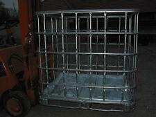 IBC-Gitterbox, Stapelbox für Kaminholz, Brennholzbehälter,