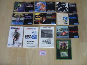 Sega Mega Drive ORIGINAL PAL MANUALS ONLY - JOB LOT - Ref 306