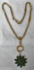 Antique Victorian Edwardian Gold Filled Pocket Watch Chain Or Necklace (5-9)