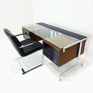 Bespoke 1960s executive desk with matching chair by Fabricius and Kastholm