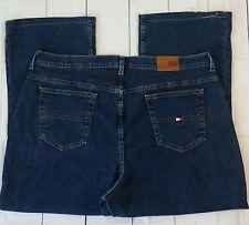 "Tommy Hilfiger Perfect Jeans Size 20 Straight Leg Cotton Stretch 42"" Waist Dark"