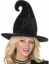Spider Web Witch Hat Ladies Halloween Fancy Dress Accessory P5820