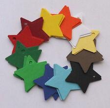 24 estrellas de colores, Colgante números para calendario Adviento 3,5cm Navidad