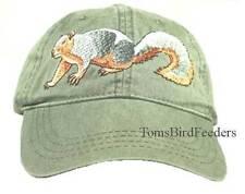 Fox Squirrel Embroidered Cotton Cap New Hat Wildlife Mammal