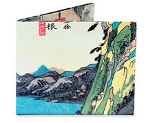 Dynomighty HIROSHIGE LAKE AT HAKONE MIGHTY WALLET tyvek japanese scene DY-535