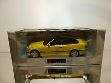 UT MODELS BMW M3 CABRIOLET E36 - YELLOW 1:18 VERY RARE - EXCELLENT IN BOX