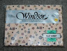 Retro Queen Sized WINDSOR Flat Sheet In Original Packaging