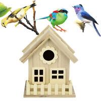 New Wooden House Bird House Wild Bird Nest Box Wooden Nesting Box Khaki Hot AU B