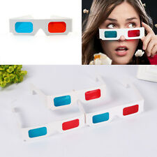 2 Pair Universal Anaglyph Cardboard Paper Red Blue Cyan 3D Glasses For Movie PRO
