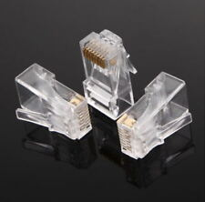 RJ45 Modular Plug Network Connector For UTP Cat5 Cat5e Cable Head sold Pk2