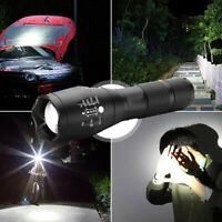 Zoomable T6 LED Police Flashlight Tactical Torch Work Light 50 Meters