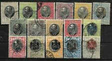 SERBIA.. 16 DIFFERENT STAMPS, KING PETER..ALL FINE USED .. 1903-1905..