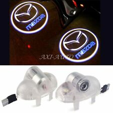 2x LED Door Lights Laser Logo Projector Lamps for Mazda 6 RX8 A8 RX-8 CX9 CX-9