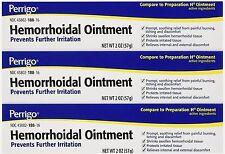 Hemorrhoid Ointment Perrigo ( Comp to Preparation H ) 2oz ( 3 tubes )