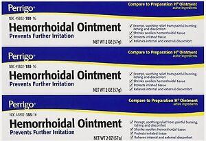 Perrigo Hemorrhoid Ointment 2oz ( 3 tubes )