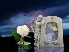 Grabengel mit Bilderrahmen Engel Figur Grabdeko Friedhof Trauerdeko
