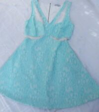 HOT OPTIONS DRESS SIZE 10 HARDLY WORN MESH SIDES LACE OVER PRETTY PARTY