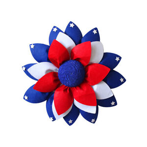 Folding American Patriotic Wreaths Independence Day Door Hanging Home Decor