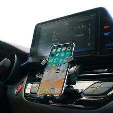 360° Schwarz + Kohlefaser-Look Telefon Halter Halterung für Toyota C-HR 16 -19