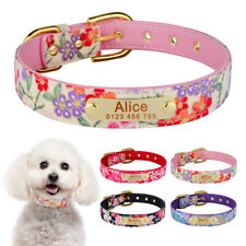 Personalized Dog Collar Custom Engraved Name ID Tag Small Medium Large Pets Dogs