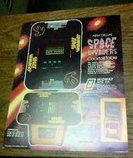 Midway SPACE INVADERS Cocktail Arcade Video Game flyer- original