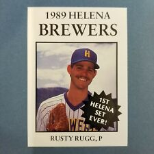 1989 Sports Pro HELENA Brewers #6 RUSTY RUGG Downsville LOUISIANA
