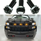 Ford Raptor Svt Style Led Amber Front Grille Mark Light For Chevy Silverado 1500