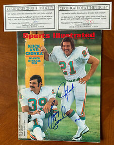 Larry Csonka and Jim Kiick Signed Sport Illustrated August 1972 Miami Dolphins