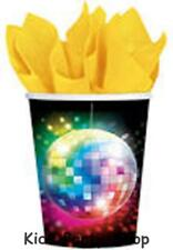 70's Disco Fever Party - 8 Paper  Cups 9oz - Free Post UK