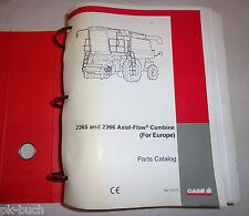 Teilekatalog Parts Catalog Case IH Mähdrescher Axial-Flow 2365 / 2366 Stand 1997