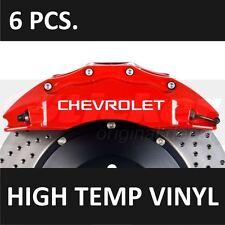 CHEVROLET Premium Brake Caliper Decals Stickers Emblem Logo Camaro Corvette