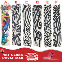 UK SLLER New Fake Tattoo Sleeve Cloth Arm Art Cosplay Party Tattoo Temporary