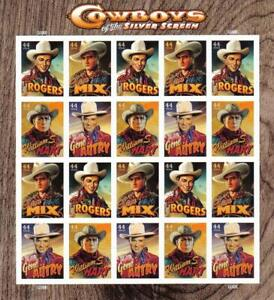 Three Sheets x 20 = 60 COWBOYS Of The SILVER SCREEN 44¢ US USA Stamps. 4446-4449