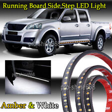 "48"" Running Board Side Step LED Light Bar Kit For Chevy Dodge GMC Ford Truck SUV"