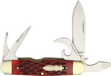 Marbles Knives  Red Jigged Bone Scout Knife MR426 / CT734