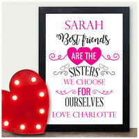 Best Friends Sisters Personalised Christmas Gift for Best Friends Friendship Her