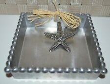 Mud Pie, Nautilus, Napkin Basket, Metal, Starfish