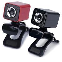 USB 2.0 1080P 0.3MP 4 LED HD Webcam Camera with MIC for Laptop Computer PC