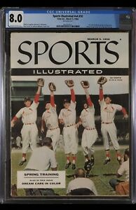 SPORTS ILLUSTRATED NEWSSTAND 1956 STAN MUSIAL CGC 8.0 FIRST ROOKIE COVER