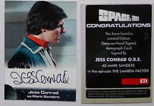 SPACE 1999 AUTOGRAPH CARD Jess Conrad O.B.E as Mark Sanders JC1 VERY RARE