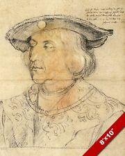 HOLY ROMAN EMPEROR MAXIMILIAN I SKETCH PORTRAIT PAINTING ART REAL CANVASPRINT