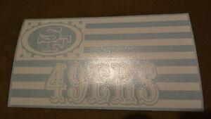 San Francisco 49ers Flag car decal
