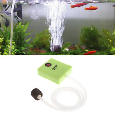 Aquarium Air Pump Dry Battery Operated Fish Tank Aerator Oxygen With Air Stone