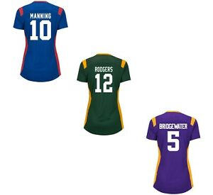 Majestic Women's NFL Draft Him Name and Number Jersey T-Shirt - Aaron Rodgers &