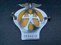 Vintage Original AA Membership Badge 1945-1957