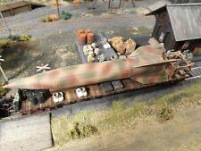 HO Roco Minitanks German V4 Rocket Railway Car Custom Detailed Weathered #A1165