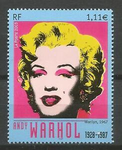 FRANCE 2003 - Art/Painting - Andy Warhol / Marylin Monroe - n° YT 3628 MNH **