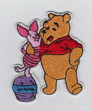 Buddy WINNIE THE POOH & PIGLET on Honey Pot Disney embroidered Iron/Sew On Patch