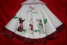 New Pet Christmas Tree Skirt Dog AppliquÉ Bark The Herald Angel Sing Embroidered